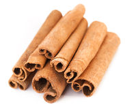 Cinnamon sticks. On white background Stock Photography
