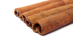 Cinnamon sticks. Isolated on white background Stock Photography
