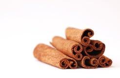 Cinnamon Sticks. Pyramid of cinnamon sticks Stock Photo