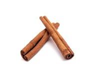 Cinnamon sticks. Isolated on white background royalty free stock photos