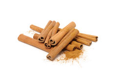 Cinnamon Sticks And Ground Cinnamon Royalty Free Stock Photo
