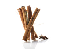 Cinnamon sticks & anise Royalty Free Stock Images