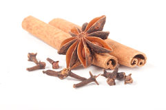 Cinnamon sticks, Anise and Cloves Stock Image