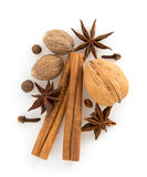 Cinnamon sticks, anise star and spices Stock Photo