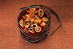 Cinnamon sticks and anise stars Stock Photo