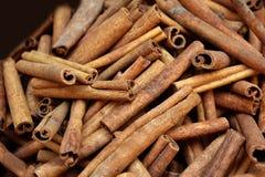 Cinnamon sticks bar. Fresh cinnamon sticks bar at market Stock Images