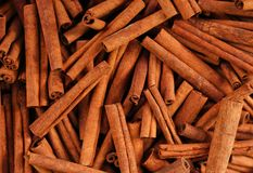 Cinnamon sticks in a bazaar royalty free stock photography
