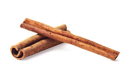 Cinnamon sticks. Brown cinnamon sticks on white isolated background Stock Image
