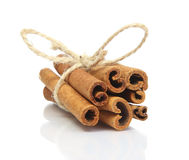 Cinnamon sticks bunch isolated on white background Stock Image