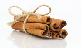 Cinnamon sticks bunch isolated on white background Royalty Free Stock Image