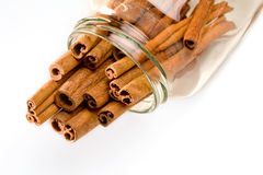 Cinnamon sticks bunch Royalty Free Stock Photography