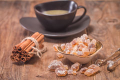 Cinnamon sticks with caramelized sugar Royalty Free Stock Photography