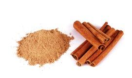 Cinnamon sticks, chalking cinnamon Royalty Free Stock Photos