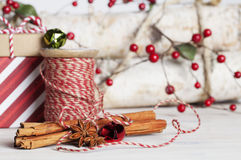 Cinnamon Sticks Christmas Stock Photography