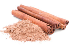 Cinnamon. Sticks and  in powder Stock Photo