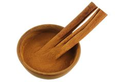 Cinnamon sticks and Cinnamon powder Stock Photo