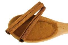 Cinnamon sticks and Cinnamon powder Stock Photography