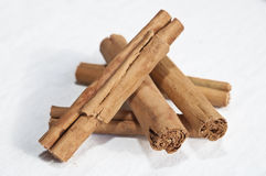 Cinnamon Sticks with Clipping Path Stock Photography