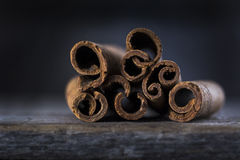 Cinnamon Sticks in Close Royalty Free Stock Photography
