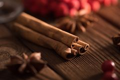 Cinnamon sticks closeup royalty free stock image