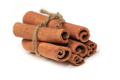Cinnamon sticks isolated Royalty Free Stock Photography