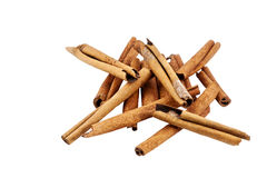 Cinnamon sticks isolated on white Royalty Free Stock Image