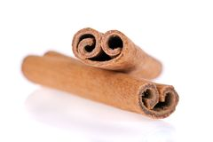 Cinnamon sticks isolated on white background Stock Photo