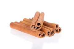Cinnamon sticks isolated on white background Royalty Free Stock Photography