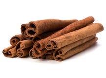 Cinnamon sticks isolated on white background . Stock Photo