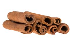 Cinnamon sticks. Isolated on white background Royalty Free Stock Image