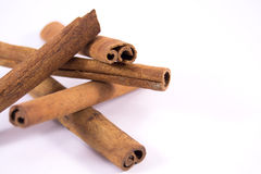 Cinnamon sticks. Isolated on white background Royalty Free Stock Photos