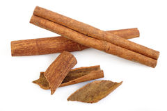 Cinnamon sticks isolated at on white background Royalty Free Stock Photography