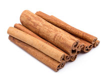 Cinnamon sticks  isolated on white background Royalty Free Stock Image