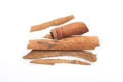 Cinnamon sticks isolated on white background.  Stock Photos