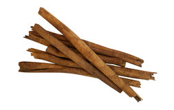 Cinnamon sticks isolated on white background, clipping path Royalty Free Stock Images