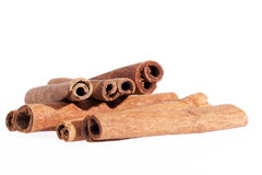Cinnamon sticks isolated on white background Stock Photography