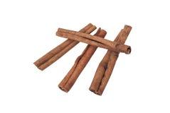 Cinnamon sticks isolated. Whole cinnamon sticks isolated on white background Stock Photos