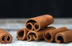 Cinnamon sticks macro Royalty Free Stock Photography