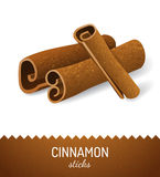 Cinnamon sticks. Over white background Stock Photo