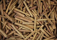 Cinnamon sticks pile royalty free stock photography