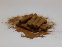Cinnamon sticks stock image