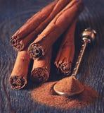 Cinnamon sticks. Royalty Free Stock Images