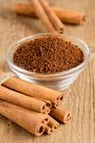 Cinnamon sticks and powder Stock Image