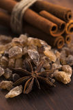 Cinnamon sticks with pure cane brown sugar Stock Images