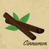 Cinnamon sticks retro poster Stock Images