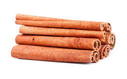 Cinnamon sticks. Some cinnamon sticks isolated on white background stock images