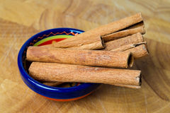 Cinnamon sticks, spice flavouring. Royalty Free Stock Photos