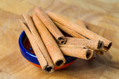 Cinnamon sticks, spice flavouring. Royalty Free Stock Photo