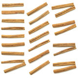 Cinnamon sticks  spice isolated set Royalty Free Stock Photos
