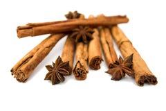 Cinnamon sticks & star anise stock image